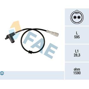 Sensor, Raddrehzahl mit OEM-Nummer 12 38 918