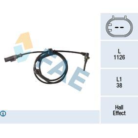 Sensor, wheel speed 78394 PUNTO (188) 1.2 16V 80 MY 2000