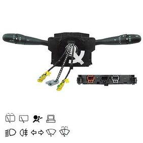 Steering Column Switch Number of connectors: 28, with light dimmer function, with high beam function, with rear fog light function, with wipe-wash function, with wipe interval function, with rear wipe-wash function, with board computer function with OEM Number 96509722XT