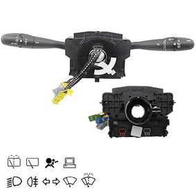 Steering Column Switch Number of connectors: 16, with board computer function, with fog-lamp function, with high beam function, with light dimmer function, with rear wipe-wash function, with wipe interval function, with wipe-wash function with OEM Number 96 446 863ZL