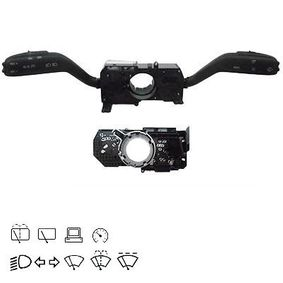 Steering Column Switch with board computer function, with cruise control, with high beam function, with rear wipe-wash function, with wipe interval function, with wipe-wash function with OEM Number 7H0953513C