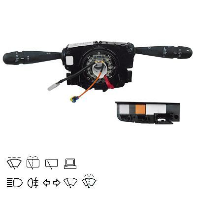 MEAT & DORIA  23707 Steering Column Switch with board computer function, with high beam function, with light dimmer function, with rear fog light function, with rear wipe-wash function, with wipe interval function, with wipe-wash function
