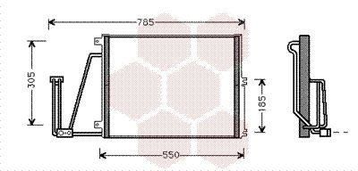 VAN WEZEL  37005265 Kondensator, Klimaanlage
