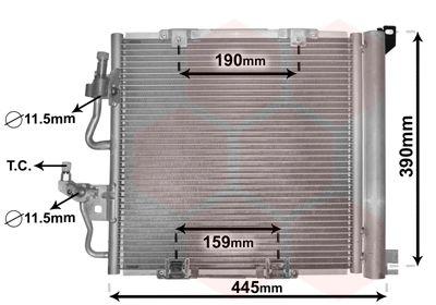 VAN WEZEL  37005368 Kondensator, Klimaanlage