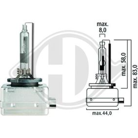 Bulb, spotlight D1R (gas discharge tube), 35W, 85V, Xenon LID10003 SKODA OCTAVIA (1Z3)