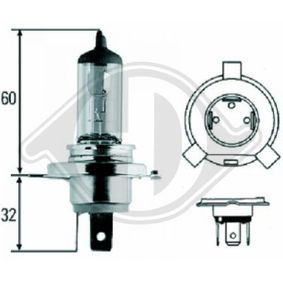 Glühlampe, Fernscheinwerfer H4, 55W, 60W, 12V LID10009