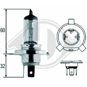 Glühlampe, Fernscheinwerfer H4, 55W, 60W, 12V LID10009 VW GOLF, PASSAT, POLO