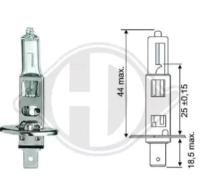 Glühlampe, Fernscheinwerfer LID10012 DIEDERICHS 12258 in Original Qualität