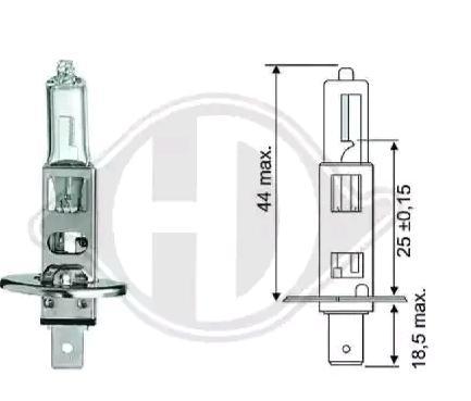 Bulb, spotlight LID10012 DIEDERICHS 12258 original quality