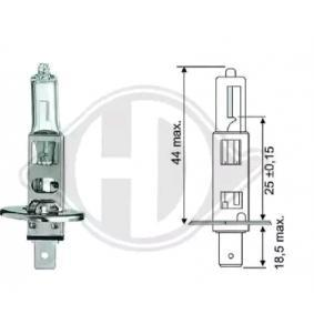 Крушка с нагреваема жичка, фар за дълги светлини H1, 55ват, 12волт LID10012