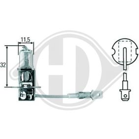 Glühlampe, Fernscheinwerfer H3, 55W, 12V LID10015 VW GOLF, PASSAT, POLO