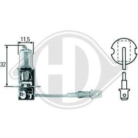 Żarówka, reflektor dalekosiężny H3 12V 55W PK22s LID10015 VW GOLF, PASSAT, POLO