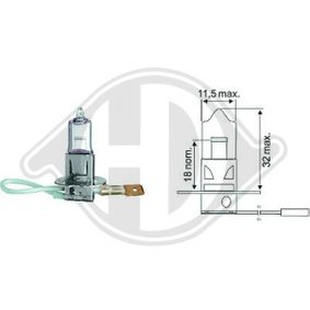 Glühlampe, Fernscheinwerfer mit OEM-Nummer 0559299