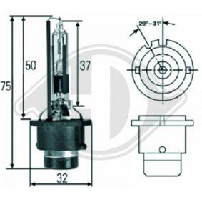 Glühlampe, Fernscheinwerfer D2R (Gasentladungslampe), 35W, 85V, Xenon LID10075 MERCEDES-BENZ C-Klasse, E-Klasse, A-Klasse