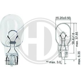 Bulb, indicator 12V 16W, W16W, W2,1x9,5d LID10089 FORD FOCUS, FIESTA, MONDEO