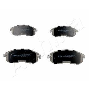 ASHIKA  50-01-165 Kit de plaquettes de frein, frein à disque Hauteur: 53mm, Épaisseur: 17mm