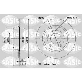 Bremsscheibe Bremsscheibendicke: 10mm, Lochanzahl: 5, Ø: 272mm mit OEM-Nummer 6R0615601B
