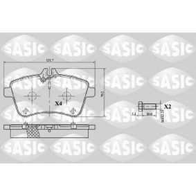 Brake Pad Set, disc brake Thickness: 19,5mm with OEM Number A 169 420 19 20