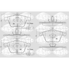 Bremsbelagsatz, Scheibenbremse Dicke/Stärke: 19,9mm mit OEM-Nummer 8E0698151C