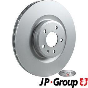 Brake Disc Brake Disc Thickness: 30mm, Num. of holes: 5, Ø: 345mm with OEM Number 8K0.615.301K