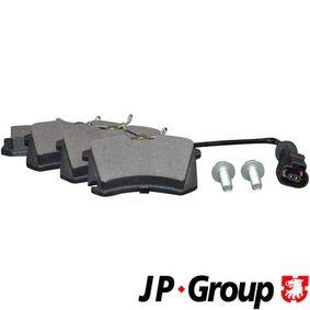 JP GROUP Jogo de pastilhas para travão de disco 1163705910 com códigos OEM 6X0698451