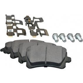 Bremsbelagsatz, Scheibenbremse Dicke/Stärke: 17,2mm mit OEM-Nummer 3C0 698 451 A