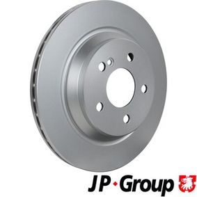 JP GROUP Brake disc kit Rear Axle, Internally Vented, Coated
