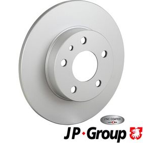 JP GROUP Brake disc kit Rear Axle, Solid, Coated