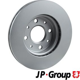 JP GROUP Brake disc kit Front Axle, Solid, Coated