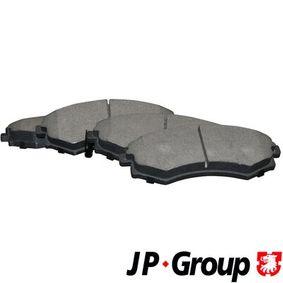 Bremsbelagsatz, Scheibenbremse Dicke/Stärke: 16,8mm mit OEM-Nummer 58101 29A40