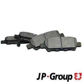 Nissan Qashqai j10 1.5dCi Bremsbeläge JP GROUP 4063700610 (1.5dCi Diesel 2011 K9K 430)