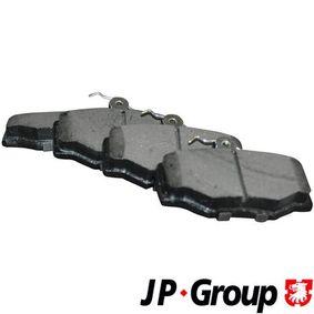 Nissan Almera Tino 2.2dCi Bremsbeläge JP GROUP 4063700710 (2.2 dCi Diesel 2004 YD22DDT)