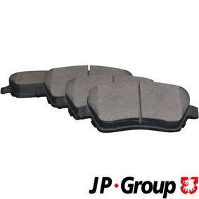 Nissan Micra K12 1.4 16V Bremsbeläge JP GROUP 4363601910 (1.4 16V Benzin 2004 CR14DE)