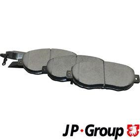 Bremsbelagsatz, Scheibenbremse Dicke/Stärke: 17mm mit OEM-Nummer 04465-14081
