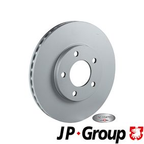 JP GROUP Brake disc kit Front Axle, Vented, Coated