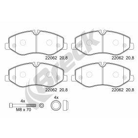 Bremsbelagsatz, Scheibenbremse Höhe: 74,80mm, Dicke/Stärke: 20,80mm mit OEM-Nummer 447 420 02 20