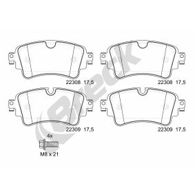 Brake Pad Set, disc brake Height: 51,00mm, Thickness: 17,50mm with OEM Number 8W0 698 451K