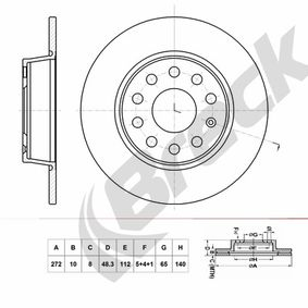 Bremsscheibe Bremsscheibendicke: 10,00mm, Lochanzahl: 9, Ø: 272,000mm mit OEM-Nummer 6R0615601