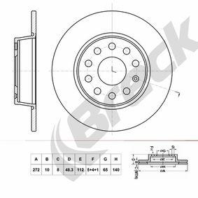 Bremsscheibe Bremsscheibendicke: 10,00mm, Lochanzahl: 9, Ø: 272,000mm, Ø: 272,000mm mit OEM-Nummer 6R0615601