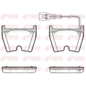 Brake Pad Set, disc brake Height: 74,4mm, Thickness: 16,7mm with OEM Number 8U0 698 151F