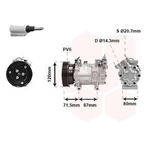 Kompressor, Klimaanlage 4300K281 CLIO 2 (BB0/1/2, CB0/1/2) 1.5 dCi Bj 2012