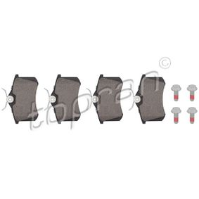 Bremsbelagsatz, Scheibenbremse Dicke/Stärke 1: 17,2mm mit OEM-Nummer 5Q0 698 451 M