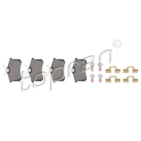 TOPRAN Jogo de pastilhas para travão de disco 723 795 com códigos OEM 1607083280