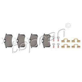 TOPRAN Bromsbeläggssats, skivbroms 723 795 med OEM Koder 1607083280