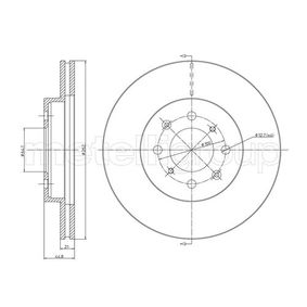Спирачен диск дебелина на спирачния диск: 21,0мм, брой на дупките: 4, Ø: 262,0мм с ОЕМ-номер 45251SK7A00