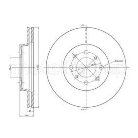 Bremsscheibe Bremsscheibendicke: 21,0mm, Lochanzahl: 4, Ø: 262,0mm mit OEM-Nummer 45251-SR0A10