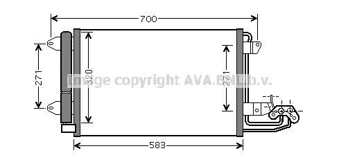 PRASCO  VN5209D Kondensator, Klimaanlage