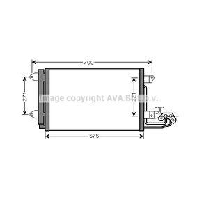 Kondensator, Klimaanlage Netzmaße: 810x400x16 mit OEM-Nummer 1K0 820 411 AH