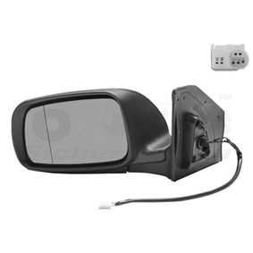 VAN WEZEL Side view mirror Left, Aspherical, Complete Mirror, Electronically foldable, for electric mirror adjustment, Heatable, Primed
