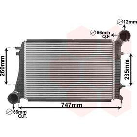 Ladeluftkühler für VW TOURAN (1T1, 1T2) 1.9 TDI 105 PS ab Baujahr 08.2003 VAN WEZEL Ladeluftkühler (58004268) für